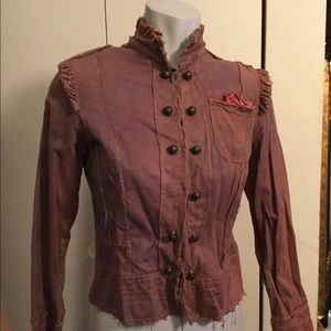 Purple coloring. Fashion military inspired jacket/